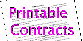 Printable Contract Examples